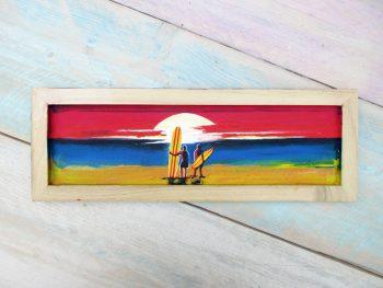 Shabby Surf Art on Wood #2