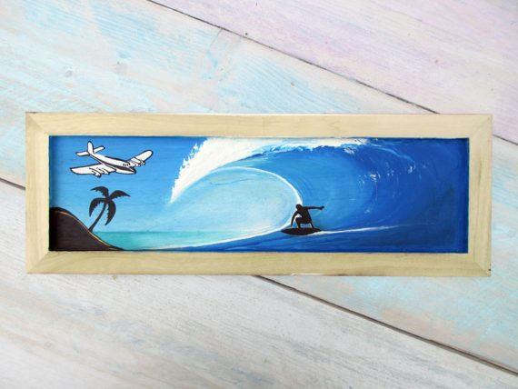 Shabby Surf Art on Wood #3