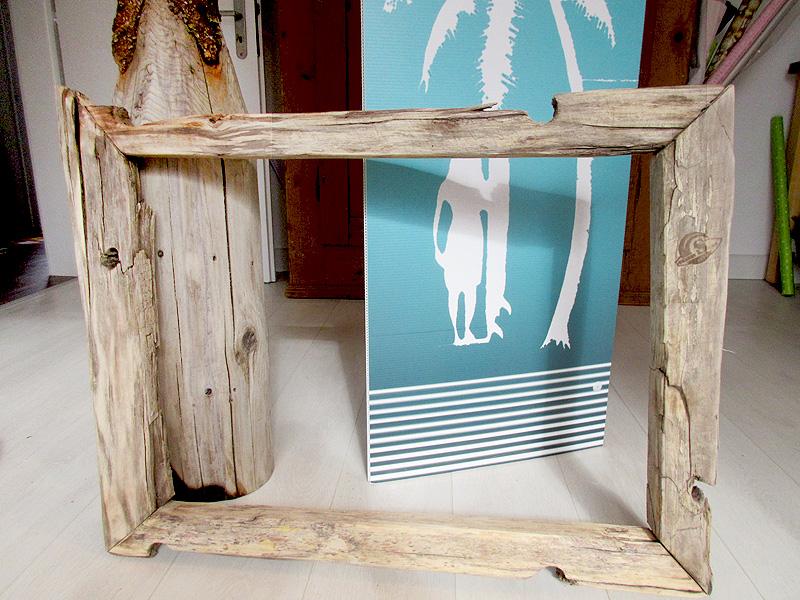 bilderrahmen aus elb treibholz shabby surf art. Black Bedroom Furniture Sets. Home Design Ideas