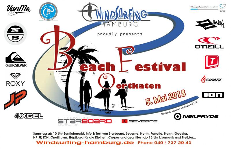 Das Logo zum Beach Festival Oortkaten hat Shabby Surf Art entwickelt.