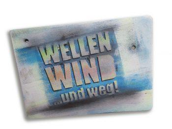 Wellen, Wind und weg!: Acryl auf Balsaholz