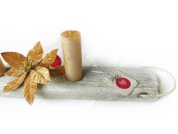 Adventsgesteck aus Treibholz und Segeltau von Shabby Surf Art