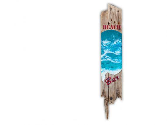 """Holzschild """"Beach Bar"""" aus Treibholz von Shabby Surf Art"""